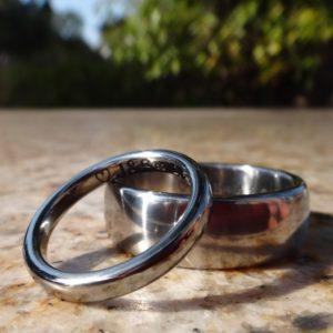 チタンとハフニウムの結婚指輪 Titanium Ring & Hafnium Ring