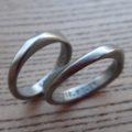 ハフニウム素材のメビウスの輪 結婚指輪 Hafnium Rings