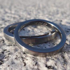 新作!ニオブとハフニウムの2色ペアリング Niobium・Hafniumu Rings