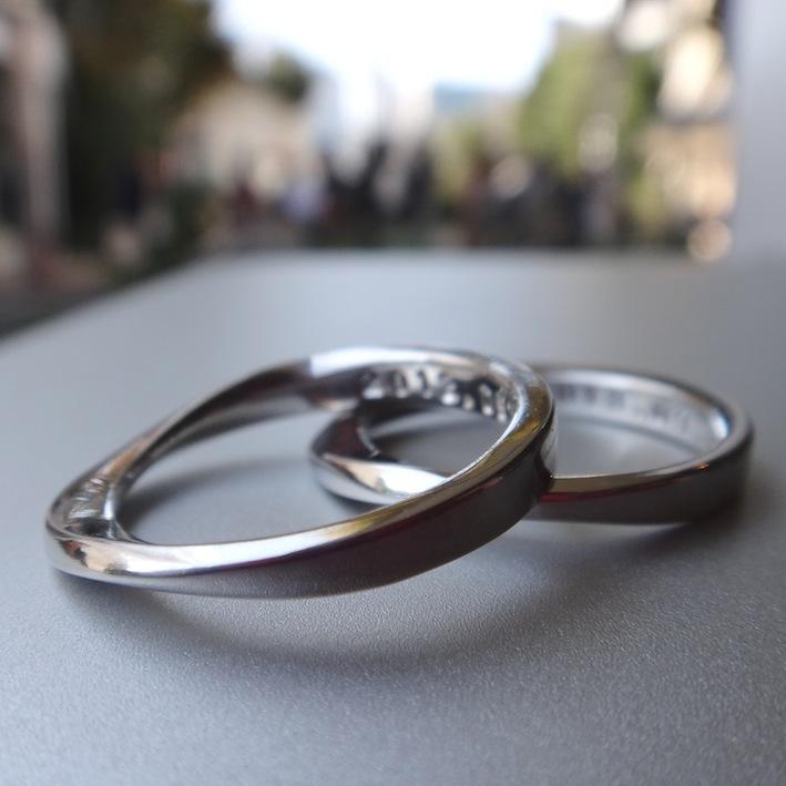 イリジウム100×プラチナ900 メビウスのペアリング Iridium100-Platinum900 Rings