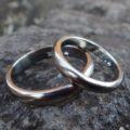金属アレルギーに配慮したジルコニウムの結婚指輪 Zirconium Rings