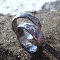 新作!タンタルのハワイアンジュエリー 結婚指輪 Tantalum Rings Hawaian carved