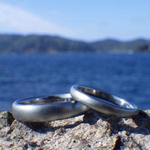 アトピーでも安心して身に着けられる!純ハフニウムの結婚指輪 Hafnium Rings