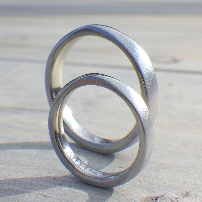 丈夫で安心安全な美しい素材・ハフニウムの結婚指輪 Hafnium Rings
