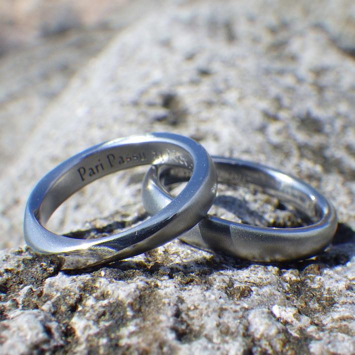 おふたりの想いを実現!ハフニウムの結婚指輪 Hafnium Rings