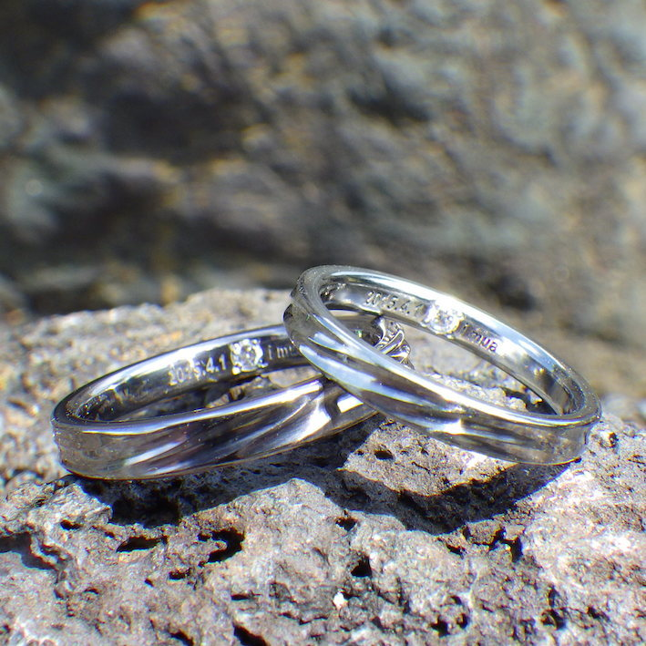 金属アレルギーにならない!タンタルとハフニウムのペアリング Tantalum & Hafnium Rings