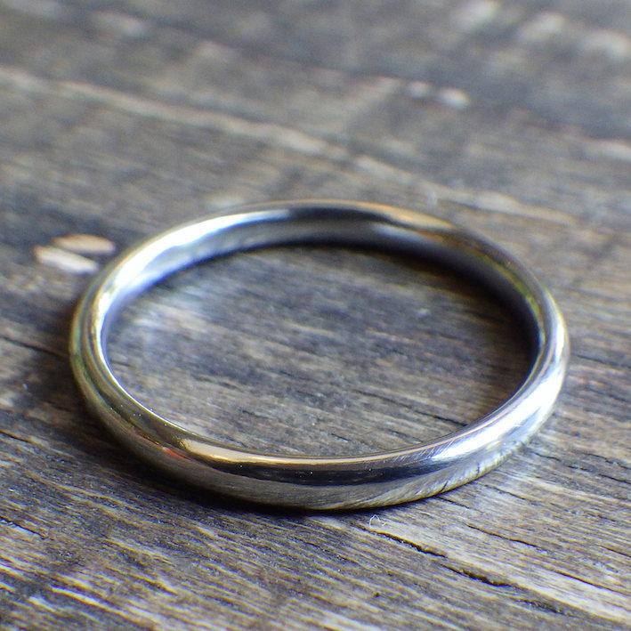 自分にご褒美!稀少金属ハフニウムの指輪 Hafnium Ring