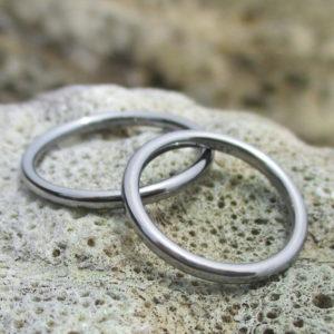 生体適合性が高い金属・タンタルの結婚指輪 Tantalum Rings