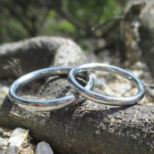 高機能で稀少な金属・ハフニウムの結婚指輪 Hafnium Rings