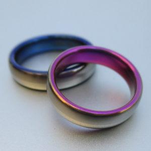新開発!ハフニウムの美しい青色の発色 Hafnium,Tantalum,Zirconium Rings