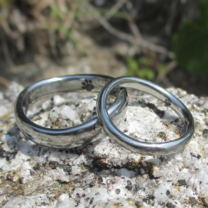 鍛造&切削で作るハフニウムの結婚指輪 Hafnium Rings