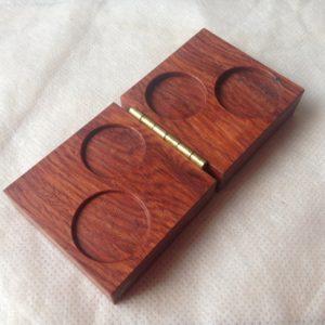 カリン無垢材の削り出し木箱の注文生産