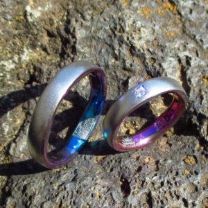 城をモチーフに・ジルコニウムの結婚指輪 Zirconium Rings