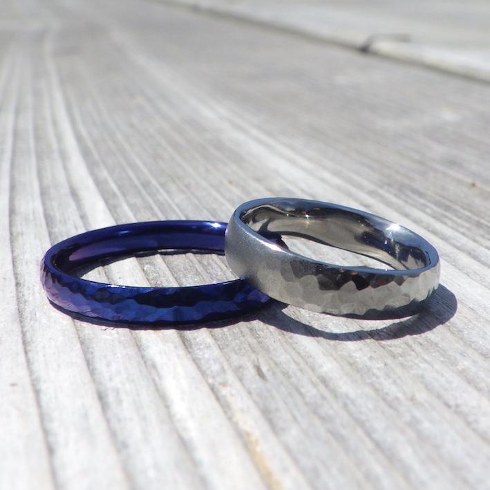 喜びと感動が沸き上がるオーダーメイドの結婚指輪 Hafnium Rings