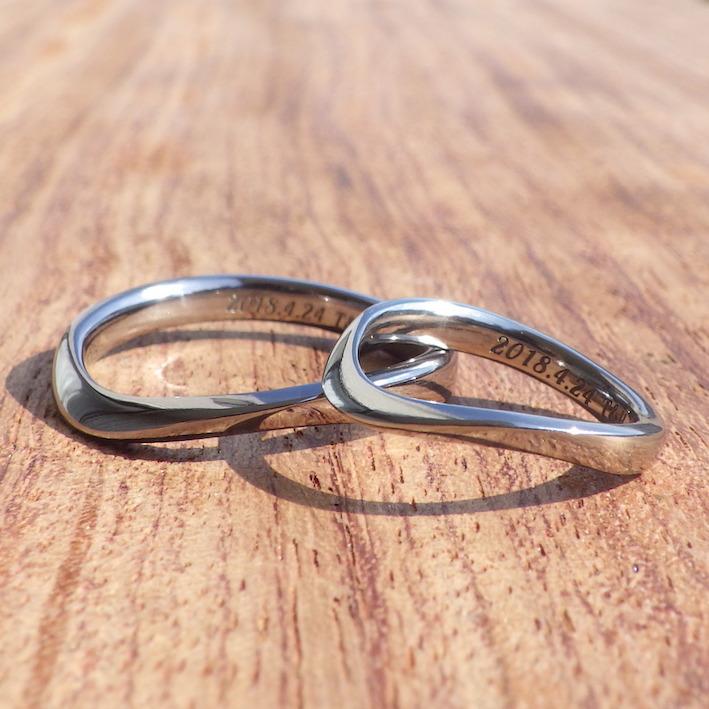 金属アレルギーフリー・メンテナンスフリーのタンタルとハフニウムの結婚指輪 Tantalum & Hafnium Rings
