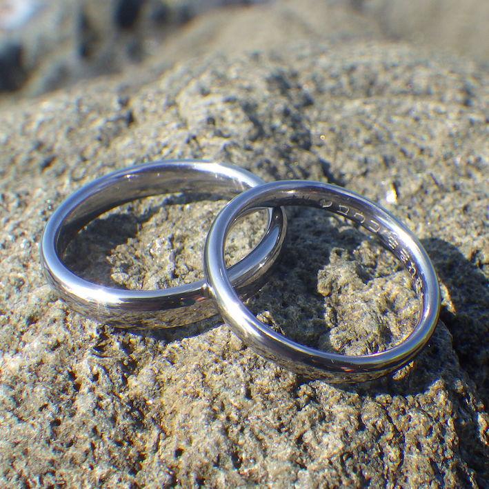 工程を見て楽しめるオーダーメイド・タンタルの結婚指輪 Tantalum Rings