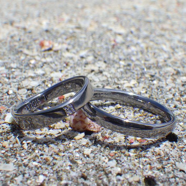 思い通りのかたちに造形!タンタルの結婚指輪 Tantalum Rings