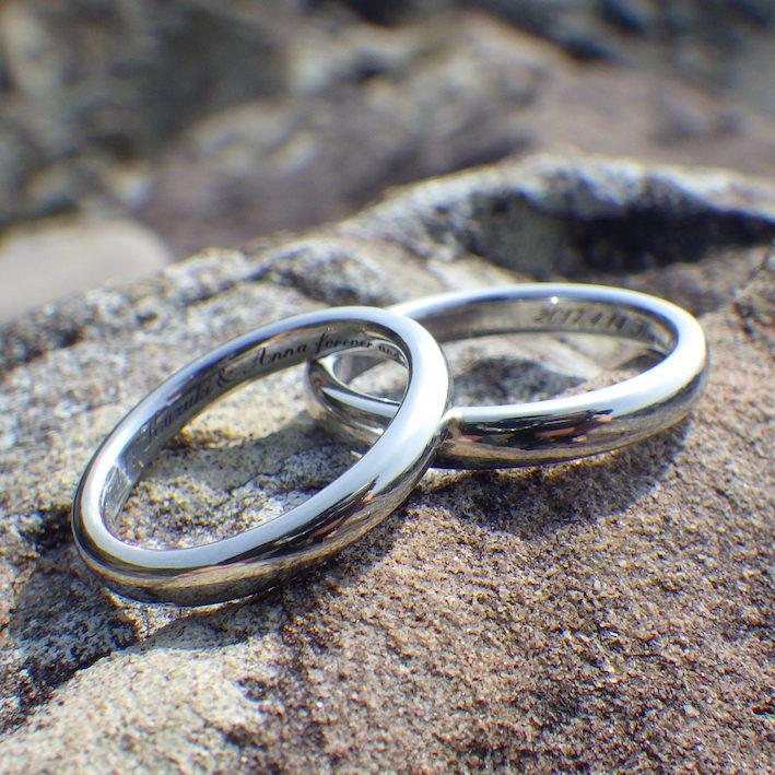 他に比べるものがない輝きと重み・イリジウムの結婚指輪 Iridium Rings