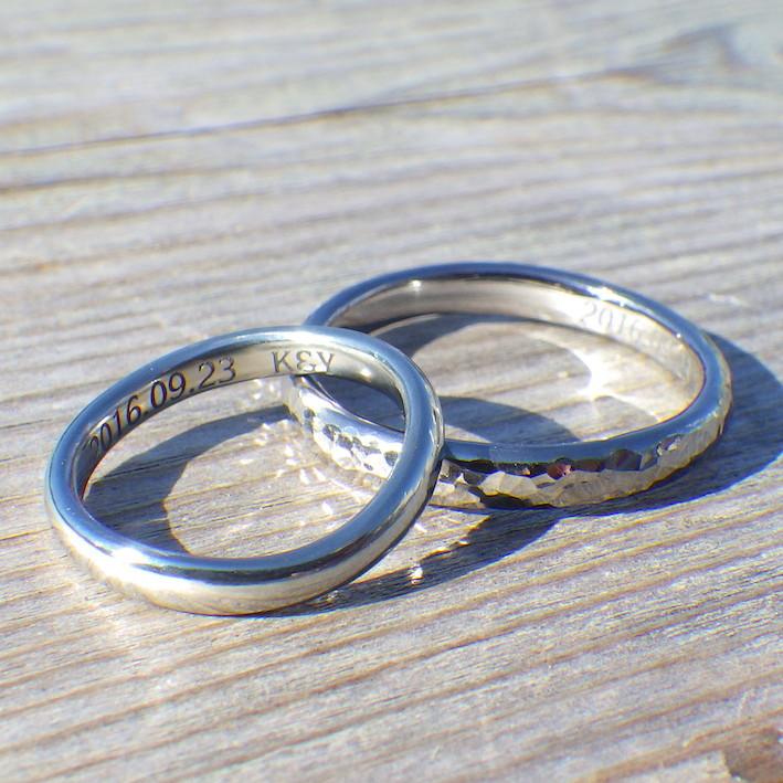 可愛い雰囲気!タンタルとハフニウムのペアリング Tantalum & Hafnium Rings