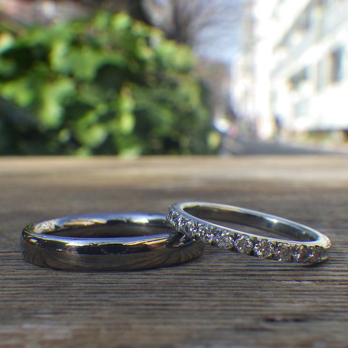 【究極のかたち】金属アレルギーの原因にならない結婚指輪 Tantalum & Hafnium Rings