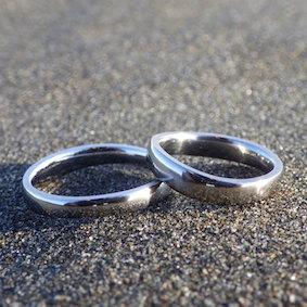 航空機エンジンのチタンブレードを結婚指輪に Titanium Alloy Rings
