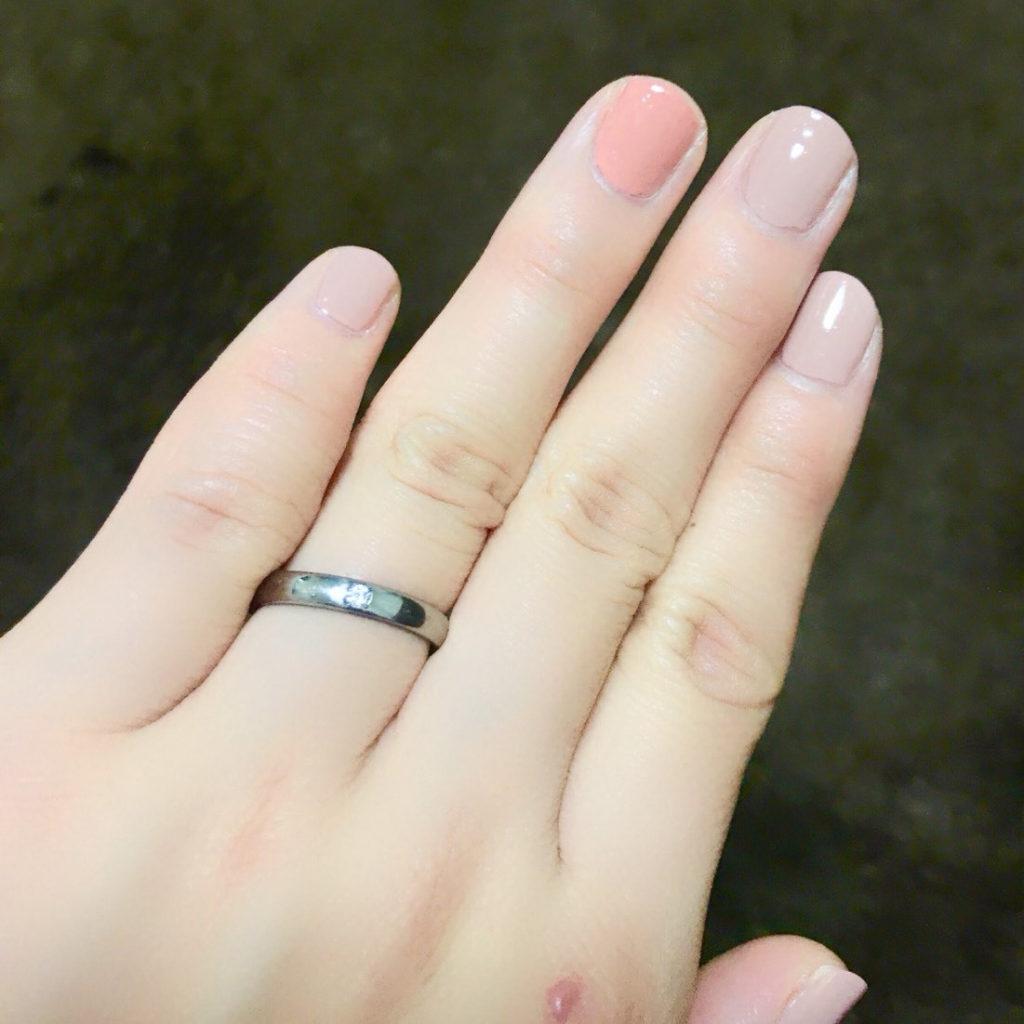 ジルコニウムの指輪をご注文のお客様