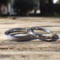素材をお揃いにして制作・タンタルの結婚指輪