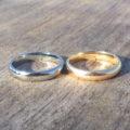 18金ゴールドに金属アレルギーが出てしまう方へ、ハフニウム素材で結婚指輪を再制作