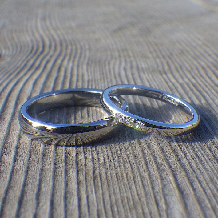 イリジウムに金属アレルギー反応が出る過敏な方でも安心のハフニウムの結婚指輪