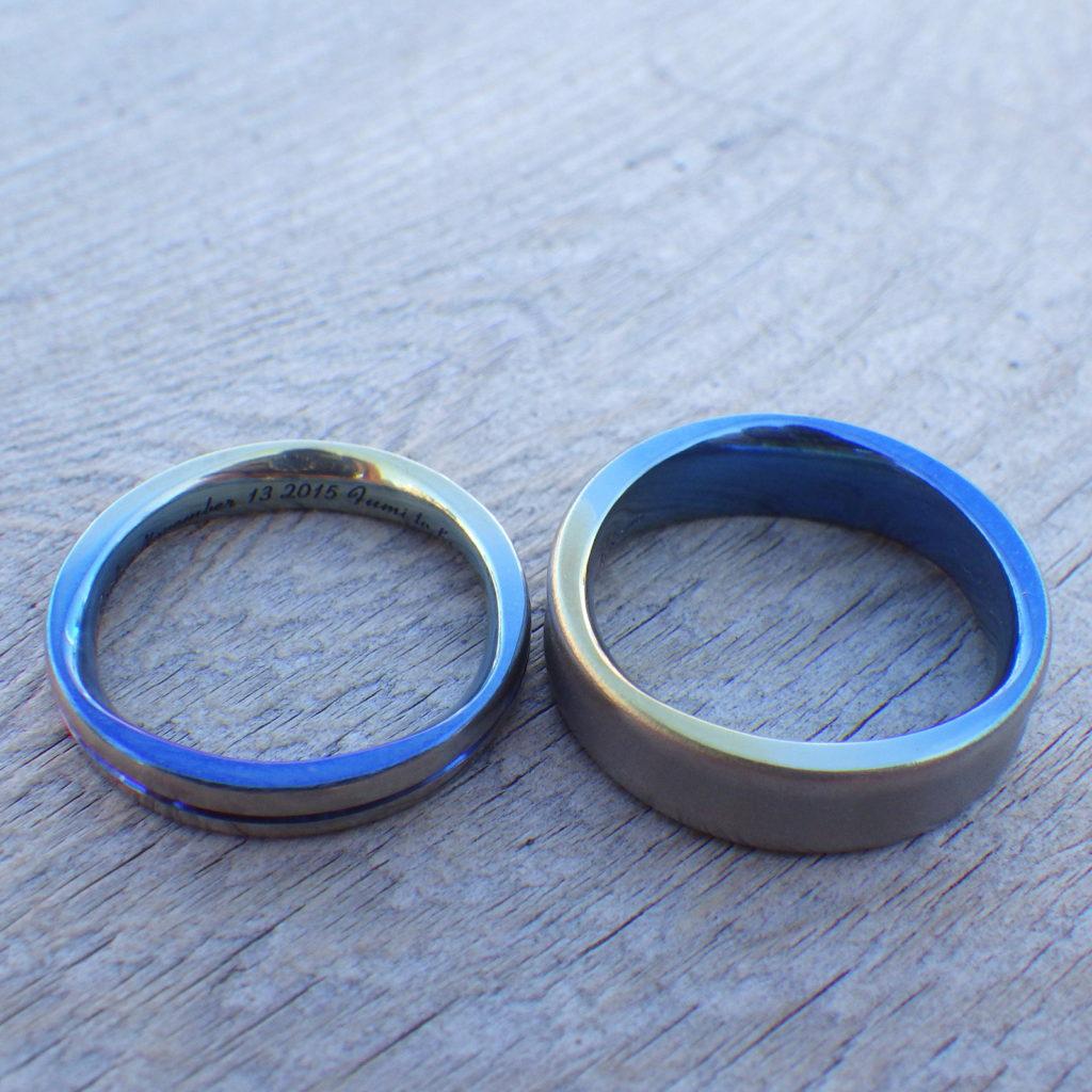 依頼者のイメージを形にする技術・ジルコニウムの結婚指輪 Zirconium Rings