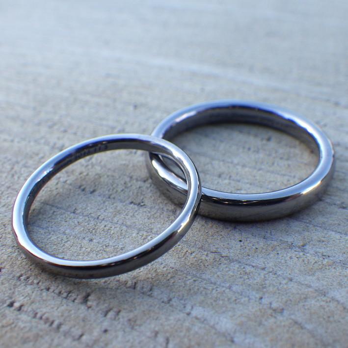 混ざり物のない純タンタルだけで制作!究極にシンプルな結婚指輪 Tantalum Rings