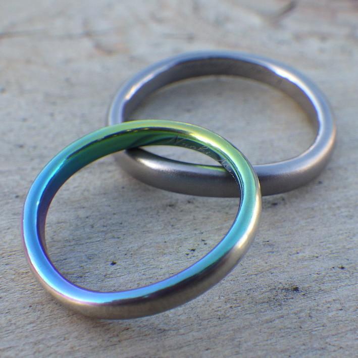 存在感のある特徴的な素材・タンタルとジルコニウムの結婚指輪 Tantalum & Zirconium Rings