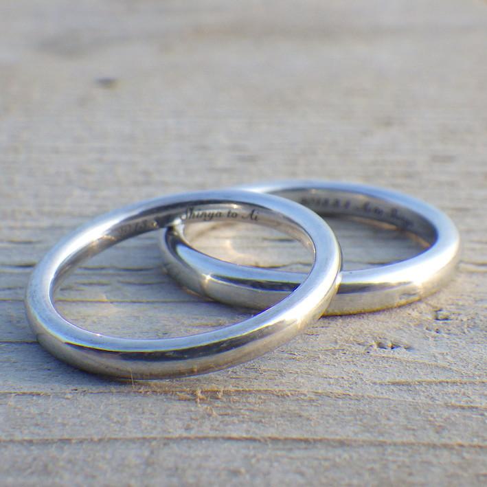 音の響きが良い!鍛造アルミニウム合金の結婚指輪 Alminium Rings