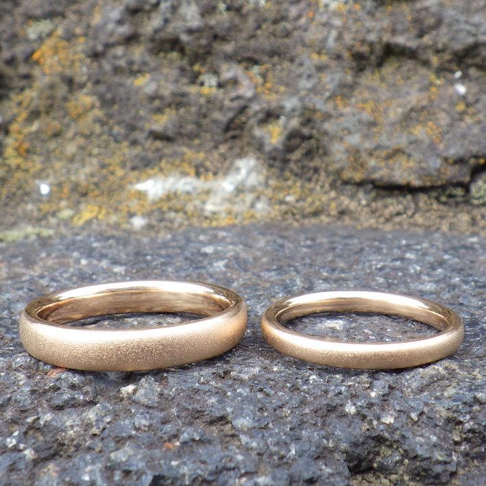 オレンジゴールドの指輪