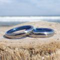 幸せな青い指輪・ハフニウムの結婚指輪