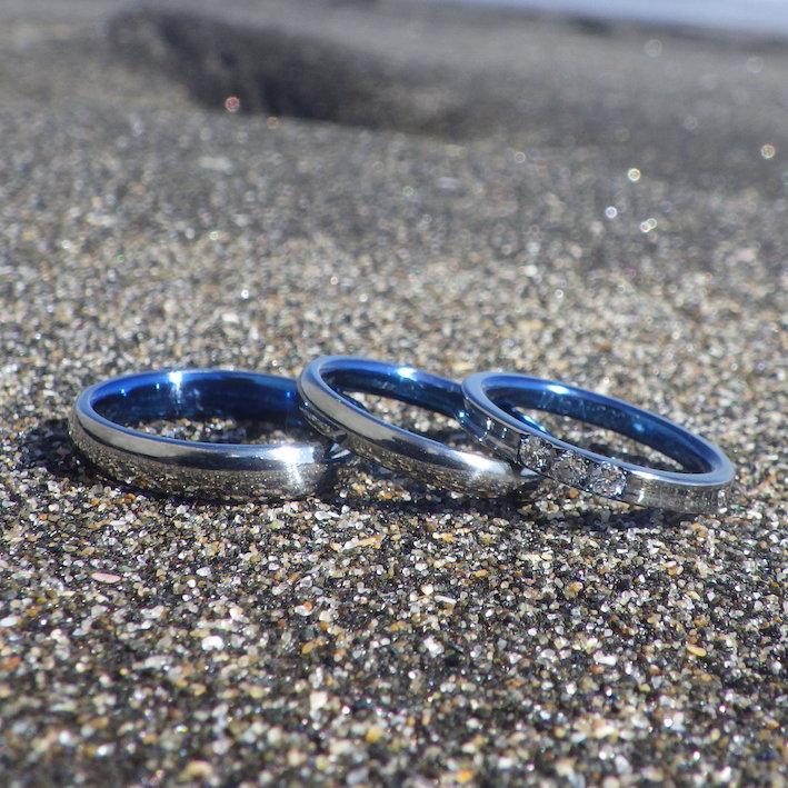 結婚指輪と婚約指輪の重ね付けを考慮したデザイン
