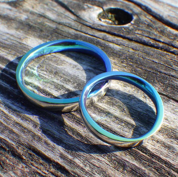宮古島の海の色・ジルコニウムの結婚指輪