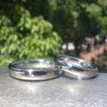 鍛造の結婚指輪・ハフニウムを独自の冷間鍛造でペアリングに