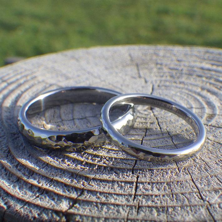 最高の到達地点!ハフニウムの結婚指輪 Hafnium Rings