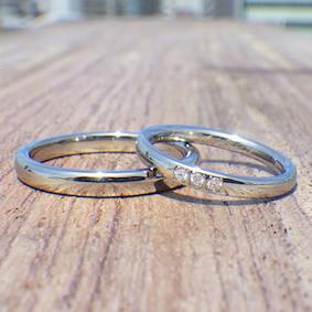 結婚指輪と婚約指輪兼用のデザイン
