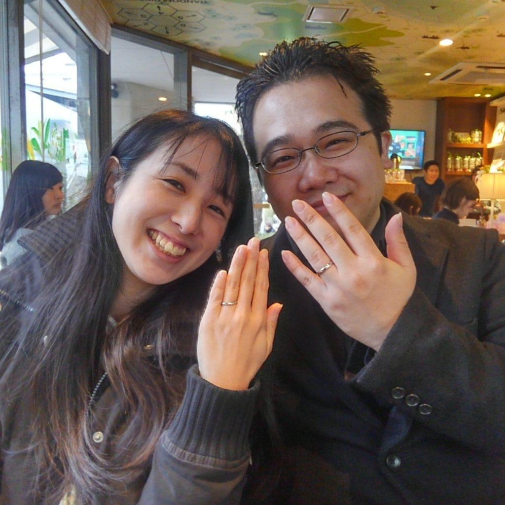 世界で唯一!代官山工房のイリジウムの結婚指輪