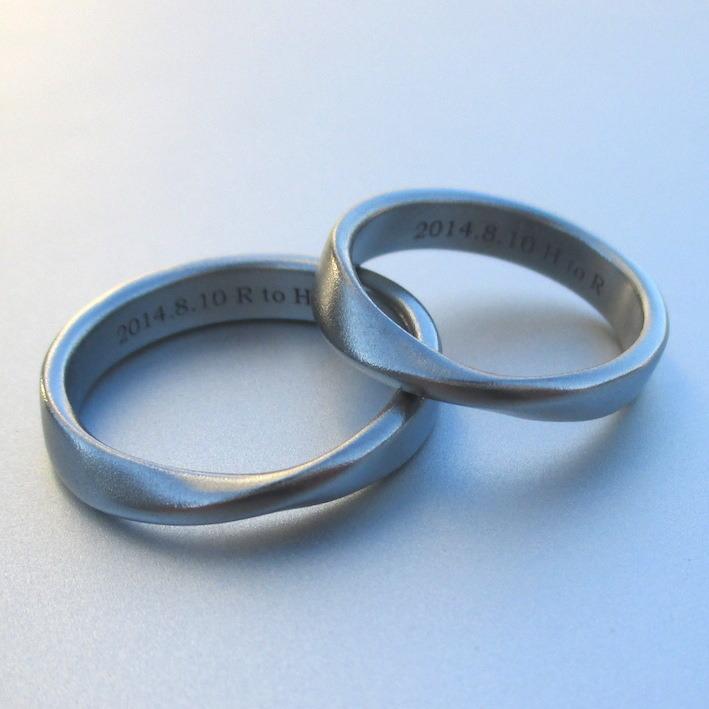 金属アレルギーにならない美しい金属・ハフニウムの結婚指輪 Hafnium Rings