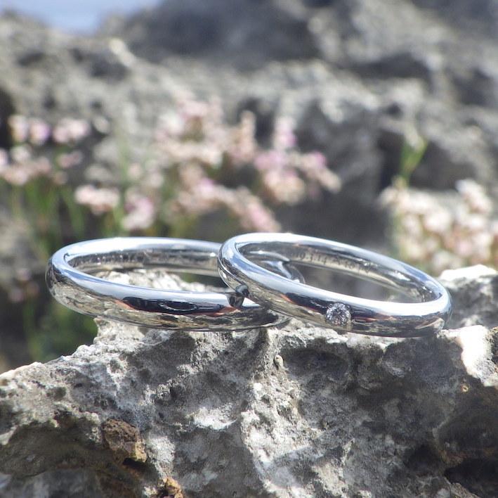 サプライズよりも、二人でずっと着けられる喜び!ハフニウムの結婚指輪