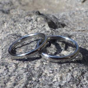 本当の安心と、ずっと着けてもらえるデザイン・ハフニウムの結婚指輪 Hafnium Rings