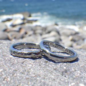 悩ましくも楽しい素材選び!ハフニウムの結婚指輪 Hafnium Rings