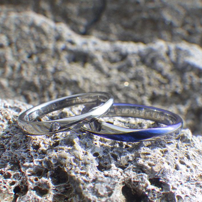 作り手が直接ご注文をお聞きするオーダーメイドスタイル・ハフニウムの結婚指輪 Hafnium Rings