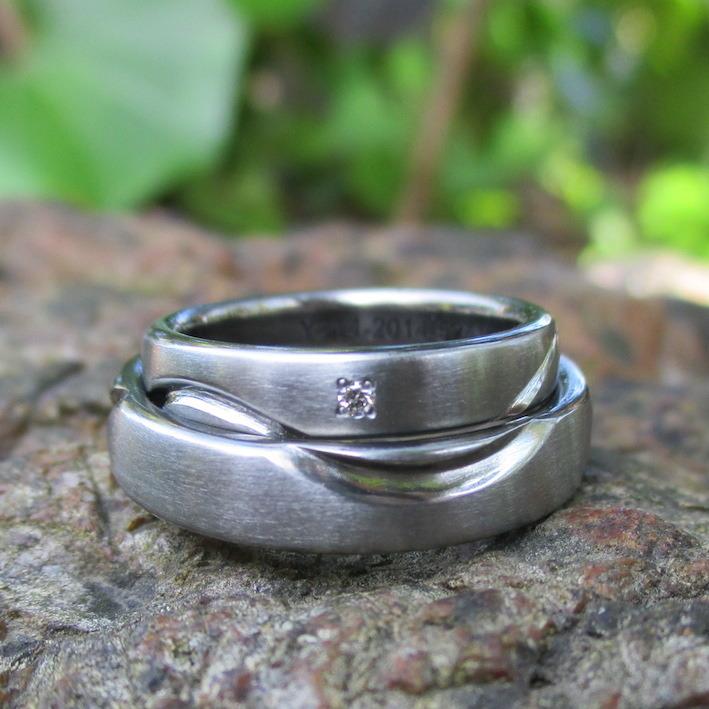 新技術!レーザーカットと鍛造の組み合わせで制作したハフニウムの結婚指輪 Hafnium Rings
