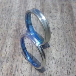 メンテナンスフリーの丈夫な素材!ハフニウムの結婚指輪 Hafnium Rings