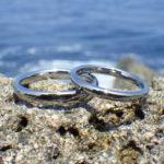 カンボジアとシンガポールからご注文いただいたハフニウムの結婚指輪 Hafnium Rings
