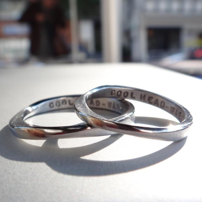 金属アレルギーの方に朗報!稀少金属ハフニウムの結婚指輪 Hafnium Rings